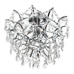 Dainolite - Dainolite VIV-154SF-PC 4 Light Crystal Flush Mount Fixture Pc Finish - Dainolite VIV-154SF-PC 4 Light Crystal Flush Mount Fixture PC Finish