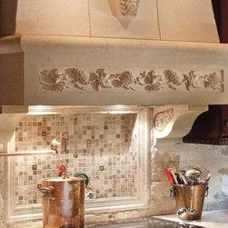 cast stone hood - Decorative stone range hoods
