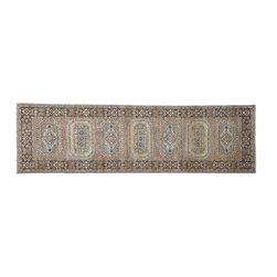 1800GetARug - Hand Knotted Rug Light Brown Transitional Runner Sh8209 - About Oushak and Ziegler Mahal