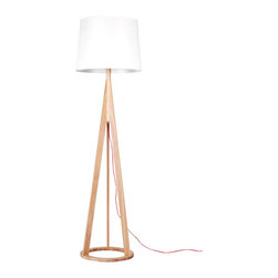 ParrotUncle - Russia Ash Wood Base Floor Lamp - If you're searching for relaxed refinement, this floor lamp fits the bill. Topped with a chic round fabric shade, it's supported by a wooden tripod with O-ring base. Contrasting natural and painting finishes draw the eye and light up your space with a contemporary allure.