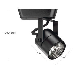 """WAC Lighting - WAC Lighting HHT-809 Low Voltage Track Heads Compatible with Halo Systems - 50W Single light track head for use with """"H"""" type connector. Equipped with a self contained electronic transformer. Available on 6"""", 12"""", 18"""", 36"""" or 48"""" inch extension rods (sold separately)."""