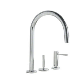 """Kallista One Pull-Down Kitchen Faucet - Sophisticated and modern, the One™ collection infuses minimalist design with elements of character 