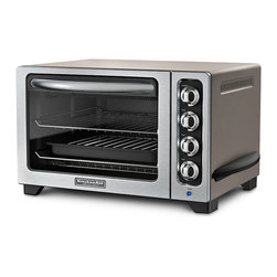 KitchenAid - KitchenAid RKCO222CS Cocoa Silver 10-inch Countertop Oven (Refurbished) - Cook like a professional with this ten-inch countertop oven from KitchenAid. A brushed finish,stainless steel racks and broil pan with grill finish this set.