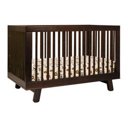 Babyletto - BabyLetto Hudson 3-in-1 Convertible Crib in Espresso - BabyLetto - Cribs - M4201Q - Delight in mid-century modern appeal with the Hudson 3-in-1 Convertible Crib. Stylish rounded spindles bring a simple charm, and give the Hudson Crib an open, radiant feel. The all-spindle sides let you keep an eye on baby from all angles, while four adjustable mattress positions allow you to maximize comfort and safety for both you and baby.
