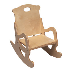 Gift Mark - Gift Mark Home Kids Children Adult Resting Single Seat Puzzle Rocker Natural - The Gift mark Secured Puzzle (Solid) Back and Seat Rocking Chair is Designed for Durability. Each Back, and each of the Rockers is Hand Carved. Each Piece of the Rocking Chair is Crafted from Natural Wood. Easy to Assemble. Includes All Tools For Assembly.