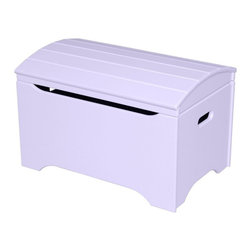 Little Colorado - Little Colorado Solid Wood Toy Storage Chest - Lavender Multicolor - 053LAV - Shop for Childrens Toy Boxes and Storage from Hayneedle.com! Every girl's room needs a toy chest so start your little girl with the Little Colorado Solid Wood Toy Storage Chest - Lavender No Personalization. The solid hardwood body is finished in soft pastel lavender and the arch-top lid moves on smooth locking hinges. This chest weighs 37 lbs and requires some assembly.Little Colorado is a Green CompanyAll finishes are water-based low-VOC made by Sherwin Williams and other American manufacturers. Wood raw materials come from environmentally responsible suppliers. MDF used is manufactured by Plum Creek and is certified green CARB-compliant and low-formaldehyde. All packing insulation is 100% post-consumer recycled. All shipping cartons are either 100% post-consumer recycled or are made of recycled cardboard.About Little ColoradoBegun in 1987 Little Colorado Inc. creates solid wood hand-crafted children's furniture. It's a family-owned business that takes pride in building products that are classic stylish and an excellent value. All Little Colorado products are proudly made in the U.S.A. with lead-free paints and materials. With a look that's very expensive but a price that is not Little Colorado products bring quality and affordability to your little one's room.