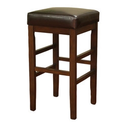 American Heritage - American Heritage Empire - KD Stool in Sierra with Merlot Leather - 26 Inch - Give new life to any space with this simple yet stylish counter or bar stool. Offered in a rich sierra finish complete with merlot leather, this barstool will remain timeless for years to come.
