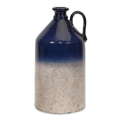 iMax - Avondale Small Jug Vase - Styled after a traditional stoneware whiskey jug, the decorative Avondale jug lends a sense of Americana authenticity to your decor.