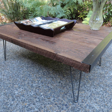Outdoor Patio Coffee Table by Mt. Hood Wood Works - Keep things midcentury mod with this low, wooden outdoor coffee table.