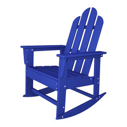 Long Island Rocker Pacific Blue All Weather Outdoor Recycled Plastic Furniture - An Adirondack chair and a rocker, what else could you need?