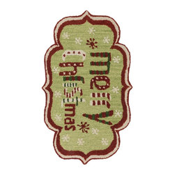 """Loloi Rugs - Loloi Rugs Skylar Collection - Green / Red, 2'-3"""" x 3'-9"""" - Make a big statement in small spaces with the Skylar Collection. Hooked in India of 100% wool, the designs bring colorful, bold attitude perfect for entry ways, bathrooms, and kid's rooms.�"""