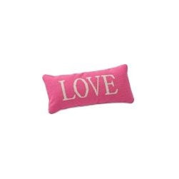 Word Pillow - With the duvet in this space being all white, I want to add color + fun with the throw pillows. This pop of pink is just the ticket!