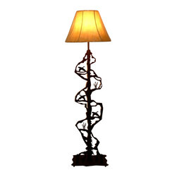 Wildlife Decor LLC - Scenery Style Floor Lamp, Wrinkle Black, Flying Duck - Floor lamp with 3-way switch rated to 150 watts. If you would like your lamp made with a certain combination of animals, feel free to call or e-mail us to discuss your options.