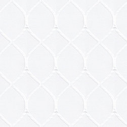 """Ballard Designs - Diamond Trellis White Fabric by the Yard - Content: 71% Cotton, 29% Polyester. Repeat: Non-railroaded fabric. Care: Dry Clean. Width: 54"""" wide. Raised, white-on-white lattice pattern quilted in crisp, nicely weighted poly-cotton. . . . . Because fabrics are available in whole-yard increments only, please round your yardage up to the next whole number if your project calls for fractions of a yard. To order fabric for Ballard Customer's-Own-Material (COM) items, please refer to the order instructions provided for each product. Ballard offers free fabric swatches: $5.95 Shipping and Processing, ten swatch maximum. Sorry, cut fabric is non-returnable."""