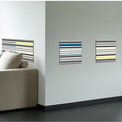 RoomMates - Crearreda Stripes Peel & Stick Foam Tiles Multicolor - CRE54705 - Shop for Stickers from Hayneedle.com! Add a little style to any room with these Stripes Peel & Stick Foam Tiles. These colorful striped tiles can be used separately or joined together to create a headboard. Easy to apply simply remove the 3-D foam stickers from the backing and press firmly to the wall. For best results apply the wall decals to smooth flat surfaces only. Do not apply on freshly painted walls wallpaper or any delicate surface. Tiles may not be repositioned after application. To remove slowly peel tile from the surface. Includes 4 sticker tiles each tile measures 12.2 x 12.2-inch.Please note this product does not ship to Pennsylvania.
