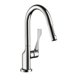 Axor - Hansgrohe - Axor Citterio Prep Kitchen Faucet - 39836001 - Chrome - Antonio Citterio pays tribute to the element of water with a particularly elegant, minimalist collection. Axor Citterio lets us truly enjoy the time we spend in the bathroom. With his most precisely formed surfaces and edges and his beautiful details, the richness of which becomes clear on a second glance. In a bathroom in which living and rejuvenation are intentionally cultivated.