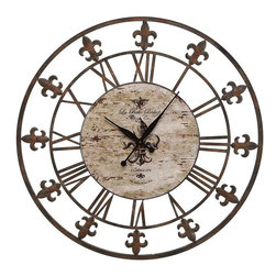 Benzara - Metal Clock To Track The Time In Style - Metal Clock is an excellent anytime low priced wall decor upgrade option that is high in modern age decor fashion. Track the time in style.