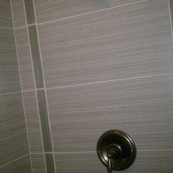 Walk-in shower tile -