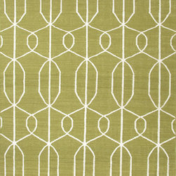 Jaipur Rugs - Flat Weave Geometric Pattern Green Wool Handmade Rug - MR18, 8x10 - An array of simple flat weave designs in 100% wool - from simple modern geometrics to stripes and Ikats. Colors look modern and fresh and very contemporary.