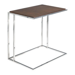Nuevo Living - Rivo Side Table by Nuevo - HGDJ133 - The Rivo Side Table by Nuevo features high polish stainless steel frame and a mahogany veneer top.