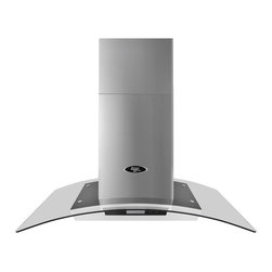LessCare - LessCare LH5 Range Hoods Island Mount - Give your kitchen a contemporary look with this island-mount range hood by Lesscare. Made from stainless steel, this island-mount range hood features a glass canopy, a three-speed selection, touchscreen buttons, and an LED light for added interest.