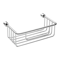 "WS Bath Collections - WS Bath Collections Energy 0622 Shower Basket - Energy 0622, 9.3"" x 5.5"" x 3.5"", Shower Basket in Polished Chrome"