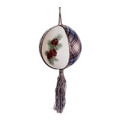 Silk Plants Direct - Silk Plants Direct Embroidered Pine Cone Ball Ornament (Pack of 6) - Silk Plants Direct specializes in manufacturing, design and supply of the most life-like, premium quality artificial plants, trees, flowers, arrangements, topiaries and containers for home, office and commercial use. Our Embroidered Pine Cone Ball Ornament includes the following: