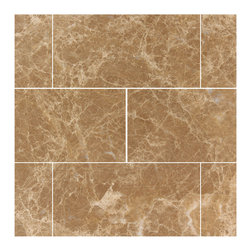 Stone & Co - Light Emperador Marble 3x6 Polished Subway Tile - Finish: Polished