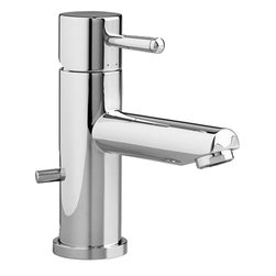 American Standard - American Standard 2064.101.002 Serin Monoblock Bathroom Faucet, Polished Chrome - American Standard 2064.101.002 Serin Single Control Monoblock Bathroom Faucet, Polished Chrome. This single-control lavatory faucet features a washerless ceramic disc valve that provides a lifetime of smooth handle operation, an adjustable hot limit safety stop, and an exclusive Speed Connect metal drain with fewer parts and less installation time.