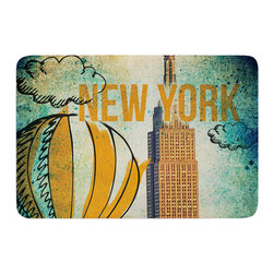 "KESS InHouse - iRuz33 ""New York"" Memory Foam Bath Mat (24"" x 36"") - These super absorbent bath mats will add comfort and style to your bathroom. These memory foam mats will feel like you are in a spa every time you step out of the shower. Available in two sizes, 17"" x 24"" and 24"" x 36"", with a .5"" thickness and non skid backing, these will fit every style of bathroom. Add comfort like never before in front of your vanity, sink, bathtub, shower or even laundry room. Machine wash cold, gentle cycle, tumble dry low or lay flat to dry. Printed on single side."
