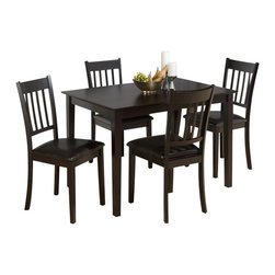 Jofran - Jofran 891 Marin Country Merlot 5-Piece Dining Room Set - Combining traditional details with modern designs, Jofran has a collection to compliment any home decor. This Marin country Merlot 5 Piece dining Room Set belongs to 891 Series - Marin County Merlot collection by Jofran Inc. The classic formulas of color combinations are not valid in Jofran Furniture territory: here is ruled by laws solely of your own preferences and fantasies. Huge selection of colors in combination with a wide choice of shapes and sizes allow you to find among this variety precisely the furniture you've always wanted to see in your home. Jofran Furniture offers high quality, casual furniture pieces that are constructed from premium Asian hardwoods, and finished with beautiful veneers. Durable materials and quality assembly will help your furniture to serve for many years and will not let you be disappointed in your choice.