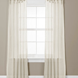 Lush Décor - Ivory Helena Curtain Panel - Set of Two - These elegant curtains feature loose loops for easy installation and provide unity to a bedroom or living room with their quaint and delicate frame.   Includes two panels 38'' W x 84'' H Polyester Dry clean Imported