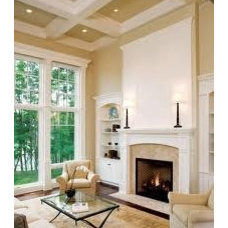 Tall coffered ceiling