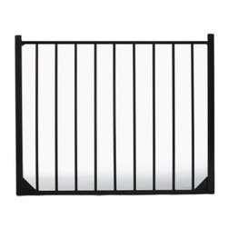 Specrail Cheshire Aluminum Walk Gate 2-Rail Panel - 4 ft. - Add the beauty and elegance of wrought iron to your home without the maintenance with the Specrail Cheshire Aluminum Walk Gate 2-Rail Panel - 4 ft.. Not only beautiful, this gate also provides added security to your property. Constructed from strong and durable aluminum that is fully welded and will not rust with welded corner gussets which add strength to this already durable arched gate, you can rest easy knowing this gate is made to last. It also has a maintenance-free design which means you won't have to worry about painting or staining. Two self-closing hinges and a pad-lockable gravity latch are included. Easy to install, this gate is made to be used with the DIY Fence Universal Fence Post and DIY Fence Asbury 482 Fence Panel System. It is advised that you do not mix and match fence brands.Additional FeaturesDesigned to be used with DIY Fence Universal Fence PostUse with the DIY Fence Asbury 482 Fence Panel SystemNot advisable to mix and match fencing brandsAll welded construction is durable and strongGorgeous and functional gateWelded corner gussets add strengthIncludes 2 self-closing hingesAlso includes pad-lockable gravity latchMeets BOCA pool code requirements in most areasGives you the beauty of traditional wrought ironEasy to installAbout SPECRAILSPECRAIL has been designing aluminum products of the highest quality for over 50 years. They offer the widest selection of any ornamental aluminum fencing company, and their extraordinary line includes 11 styles, 4 grades, and 5 colors. SPECRAIL brings beauty, strength, and a traditional wrought iron look to their maintenance-free aluminum fencing. Every piece they manufacture represents their strong commitment to meeting the needs of their customers and their dedication to quality.
