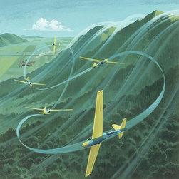 Magic Murals - Gliders Flying Wallpaper Wall Mural - Self-Adhesive - Multiple Sizes - Magic Mur - Gliders Flying Wall Mural