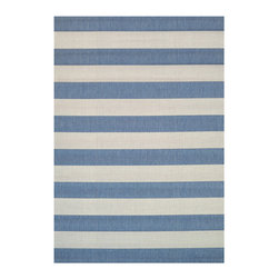 """Couristan - Afuera Yacht Club Rug 5229/9013 - 6'6"""" x 9'6"""" - The area rugs of the Afuera Collection offer an array of options that are perfect for any outdoor/indoor space in your home. Nestle these performance area rugs practically anywhere to achieve a fashionable, casual atmosphere that's easy to maintain. The nautical hues, including Ivory, Mist, Tan, Navy, Beige and Honey, are the perfect neutral to base your room decor around."""