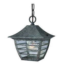Hardware House - Antique Silver Outdoor Patio / Porch Exterior Hanging Light Fixture - Finish: Antique Silver