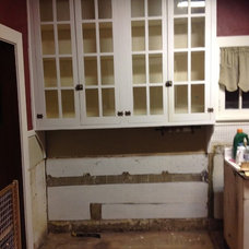 Finally updating our 1920 kitchen! We kept the original hutch cabinet & the orig