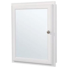 21 in. Recessed or Surface Mount Medicine Cabinet in White-S2126-WH-R at The Hom
