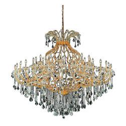 Elegant Lighting - Elegant Lighting 2800G72G/RC Maria Theresa Collection Large Hanging Fixture - Elegant Lighting 2800G72G/RC Maria Theresa Collection Large Hanging Fixture
