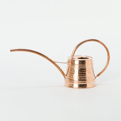 Polished Copper Watering Can - I just can't get enough copper in my life lately. This polished copper watering can is no exception. I love how graceful and sweet it is.