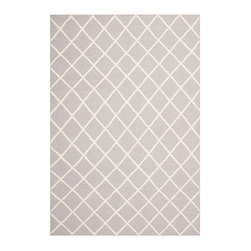 Ballard Designs - Meridian Dhurrie Rug - Transitional styling. Sizes are approximate. Imported from India. This lattice-patterned dhurrie rug works as a great backdrop to other patterned furnishings. Also a good choice for high-traffic rooms, it's hand woven of wool in a reversible flat weave, so you can flip it before cleaning. Use of a rug pad is recommended. Meridian Dhurrie Rug: . . .