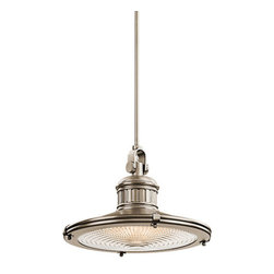 Kichler - Kichler 42438AP Sayre Single-Bulb Indoor Pendant with Cone-Shaped Metal Shade - Product Features: