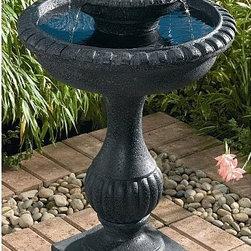 Smart Solar - Smart Solar Blenheim 2-Tier Solar-on-Demand Bird Bath Fountain -