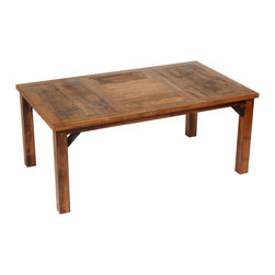 Mountain Woods Furniture - 84-Inch Rustic Barnwood Dining Table Reclaimed Wood Wyoming - This  beautiful  rustic  barnwood  dining  table  is  crafted  from  regionally-harvested  reclaimed  wood.  The  winds  and  snow  on  the  Wyoming  prairie  have  been  shaping  this  wood  for  generations,  adding  color,  creating  texture  and  character,  and  now  you  can  own  this  table  yourself.  You'll  have  an  heirloom  piece  of  the  American  West  right  in  your  own  dining  room!  Each  of  these  distressed  wood  tables  has  been  handcrafted  with  care  and  attention  in  the  USA.                  Dimensions:  84  wide  x  42  Long  x  30  high              Authentic  reclaimed  wood              Handcrafted  in  the  USA              Regionally  reclaimed  solid  wood              Curbside  shipping  is  free  within  the  lower  48  states              Allow  4-6  weeks  for  shipping