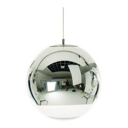 Mirror Ball Pendant by Tom Dixon - This amazing mirrored globes have a bit of groovy retro style, mid-century modern simplicity, disco glam and futuristic finishing.