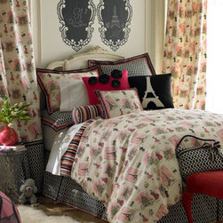 """Legacy Home-""""Tres Chic"""" Bed Linens - Travel to Paris every night in your dreams.  Who wouldn't dream of Paris sleeping snug and warm under """"Tres Chic"""" bedding every night.Available in various sizes."""