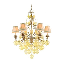 Corbett Lighting - Six Light ChandelierVenetian Collection - Corbett Lighting designs and manufactures elegant luminaires, infusing residential and commercial spaces with glamour and grace.
