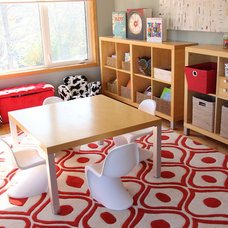 Red Alert in a Sunny Playroom Designed for Self-Guided Activities