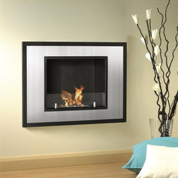 Bellezza Mini Recessed Bio Ethanol Fireplace - The Bellezza Mini Recessed Bio Ethanol Fireplace offers a glass shield to provide a safety barrier. This fireplace is completely ventless. It does not require a chimney, gas or electricity.